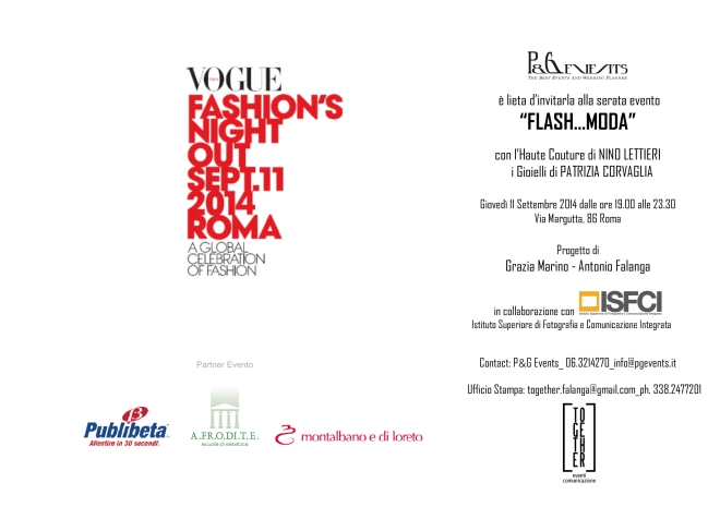 Invito - Vogue Fashion's Night Out in Via Margutta