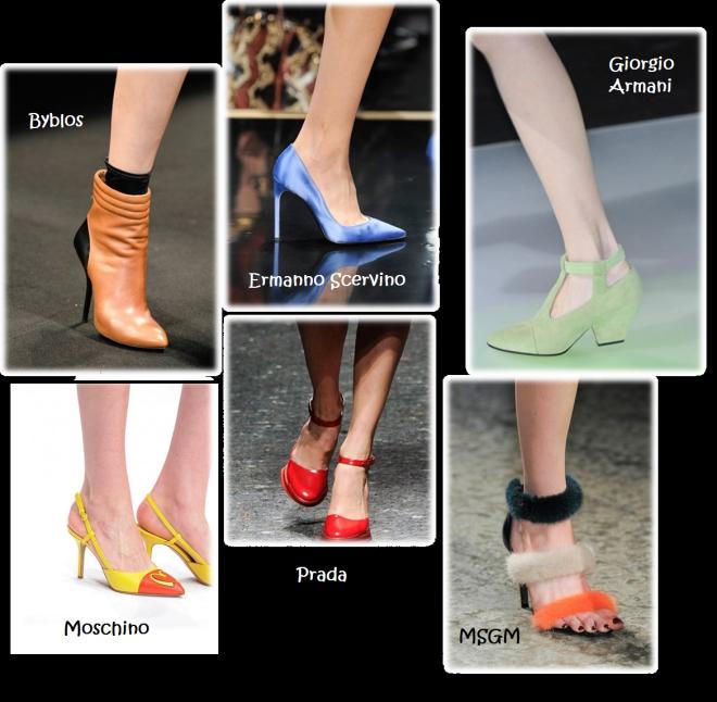 scarpe sfilata colorfull