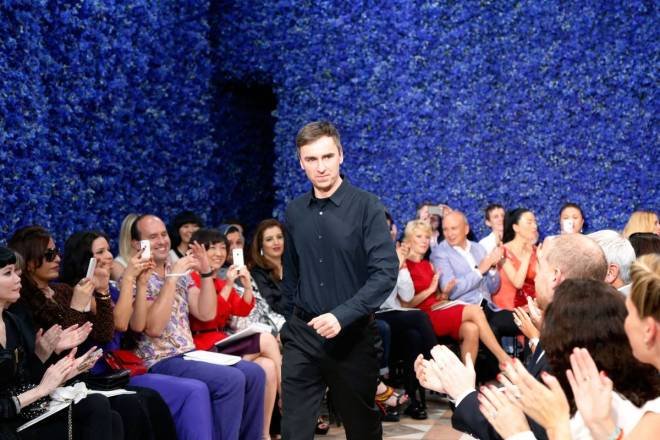 Belgian designer Raf Simons acknowledges